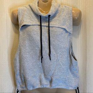 Te verde gray cowl neck athletic knit vest